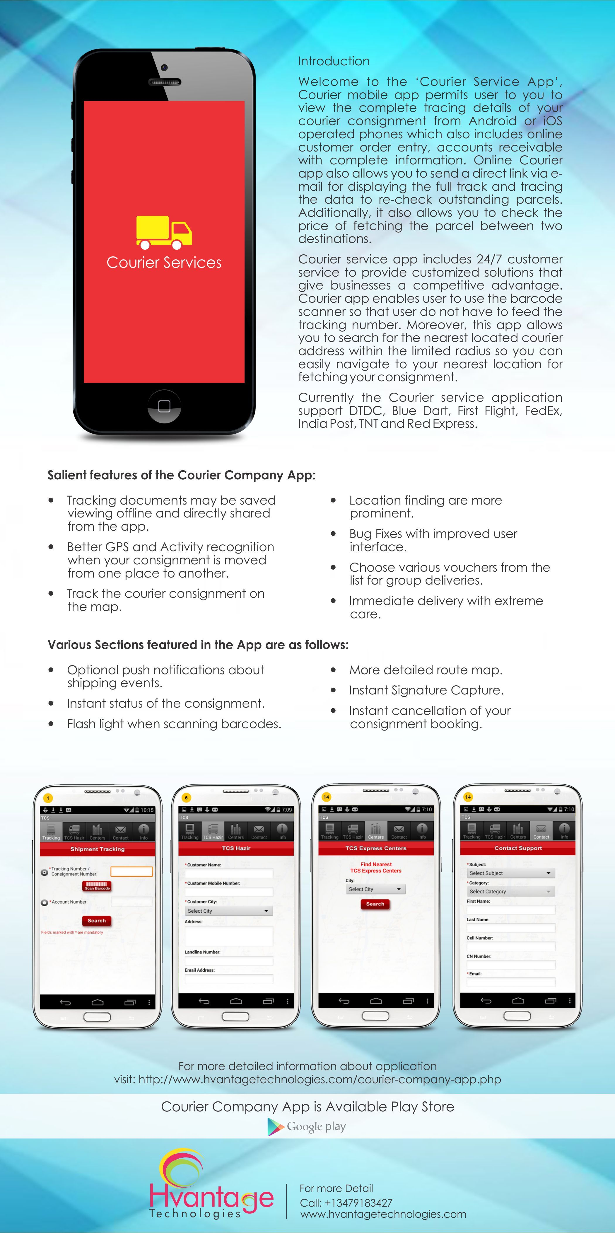 Courier #service #app includes 24/7 customer service & support #DTDC
