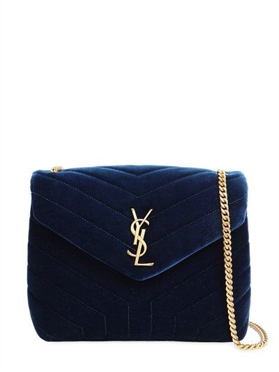 4f5cc34f9f SAINT LAURENT Small Loulou Velvet Monogram Bag