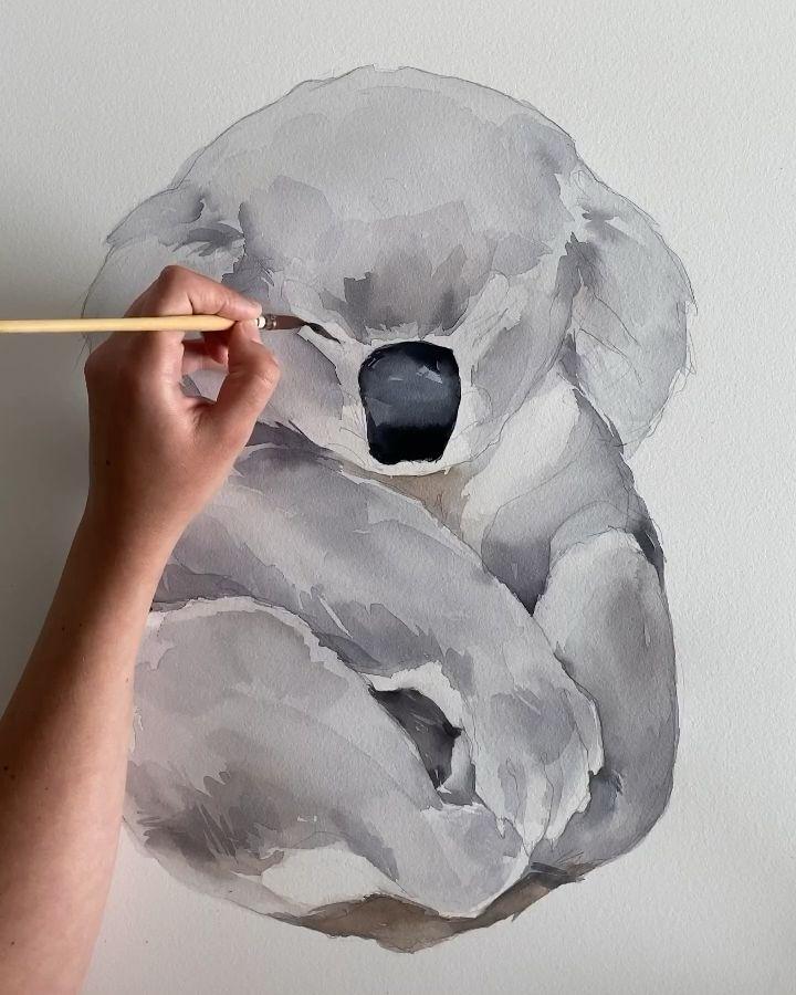 So sad 😞 Koala by Polina Bright