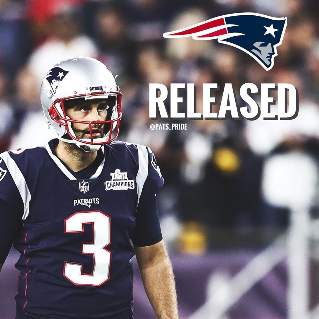 The Patriots Have Released Kicker Stephen Gostkowski In 2020 Boston Sports Football Helmets Patriots