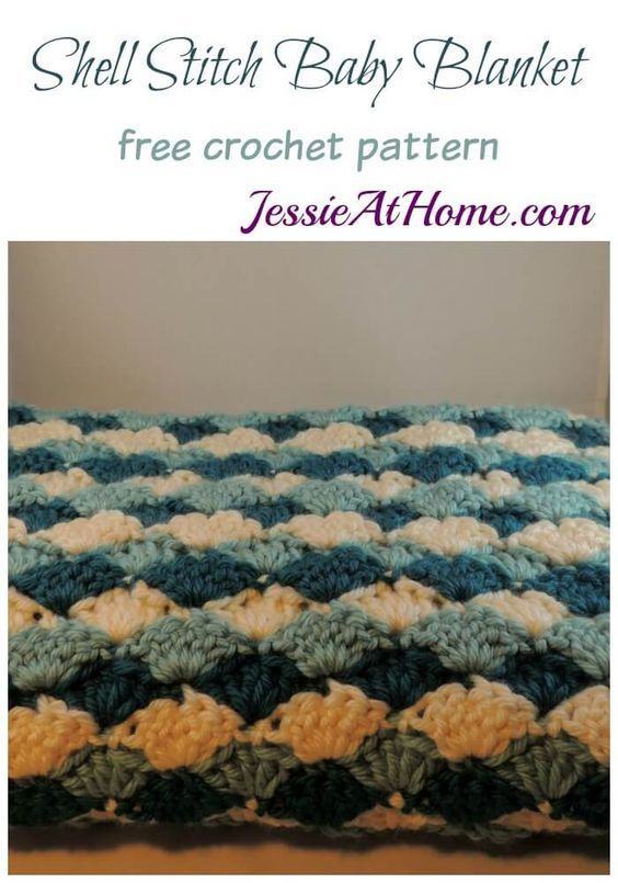 Shell Stitch Baby Blanket free crochet pattern by Jessie At Home ...