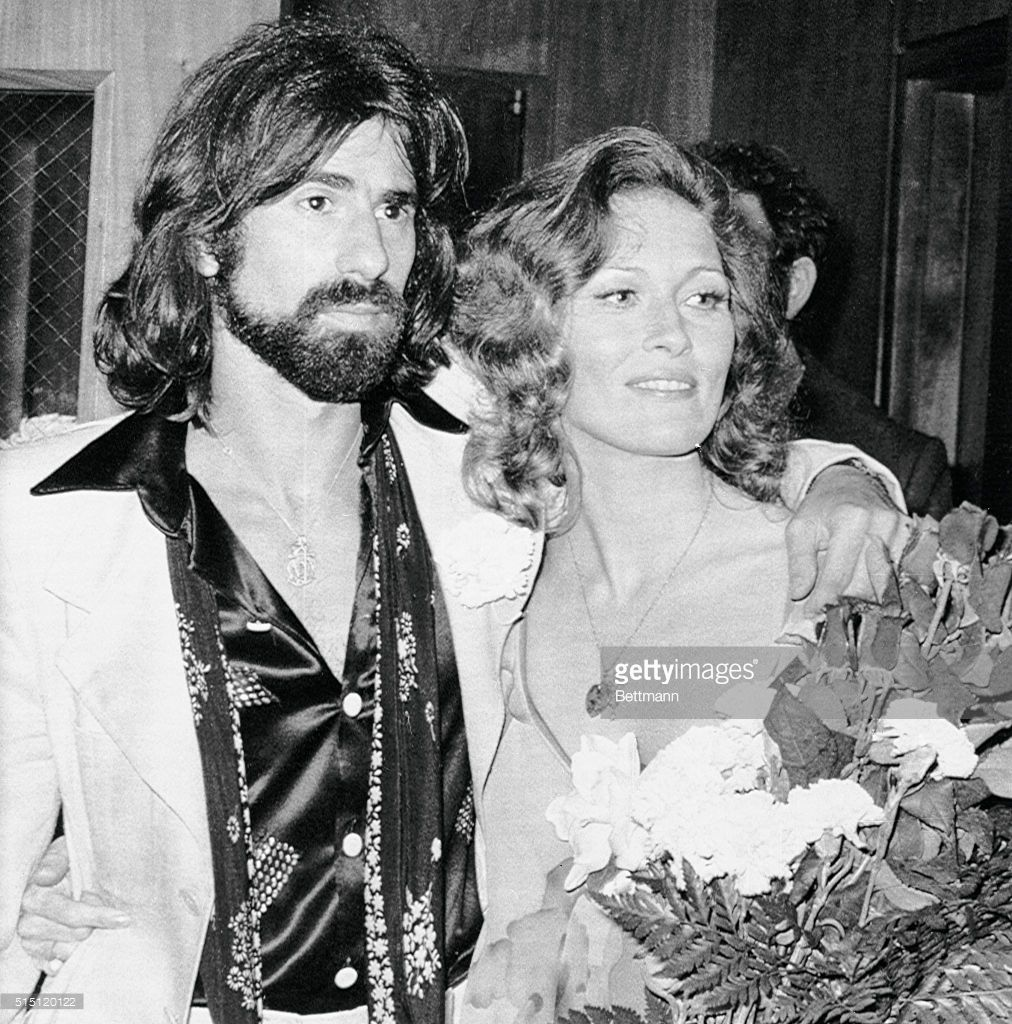 Actress Faye Dunaway and musician composer Peter Wolf leave Beverly Hills Municipal court after their marriage. Miss Dunaway, costar of 'Chinatown,' and Wolf, lead singer of the 'J. Geils Band,' plan to reside in New England.
