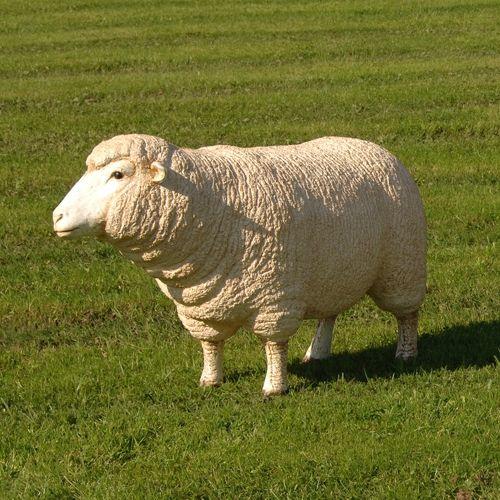 Life-Size Grazing Garden Sheep Figure