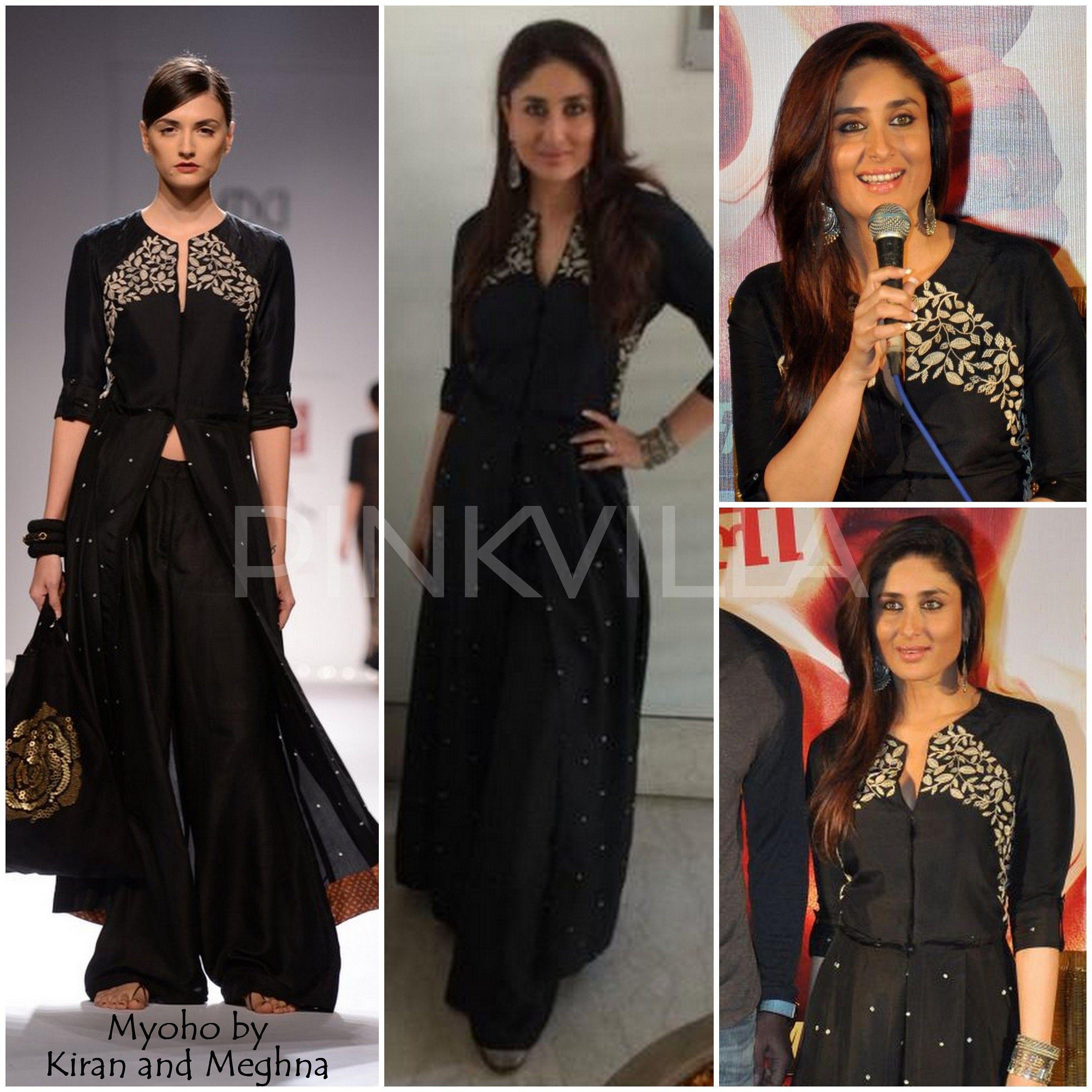 Black dress kareena kapoor - Yay Or Nay Kareena Kapoor In Myoho By Kiran And Meghna