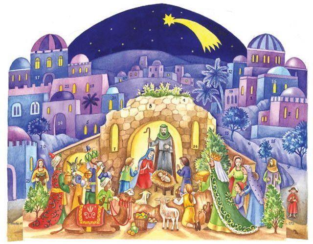 Richard Sellmer 3D Fold out Christmas Snow Scene Traditional advent calendar