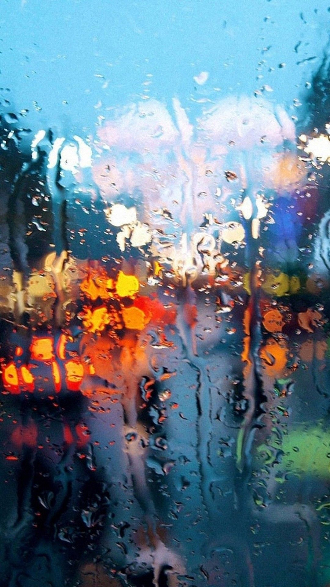 ガラス越しの雨 雨の窓 Iphone 壁紙 Iphone 5壁紙