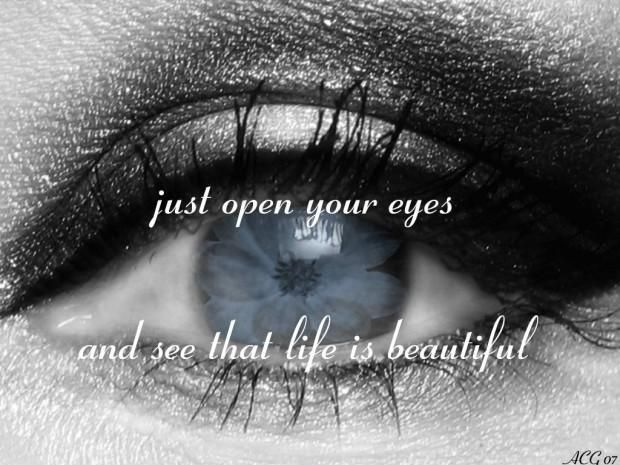 Pretty Eyes Quotes Just Open Your Eyes And See That Life Is