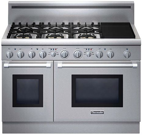 Thermador. Six burners. Two ovens. And a grill top Oh my! .