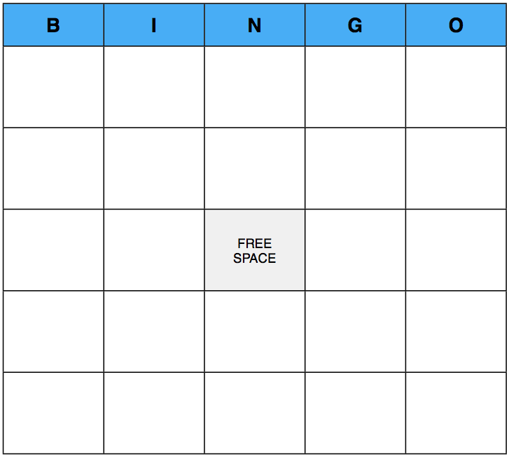 BINGO: A Game That Can Be Played At Any Christian Event