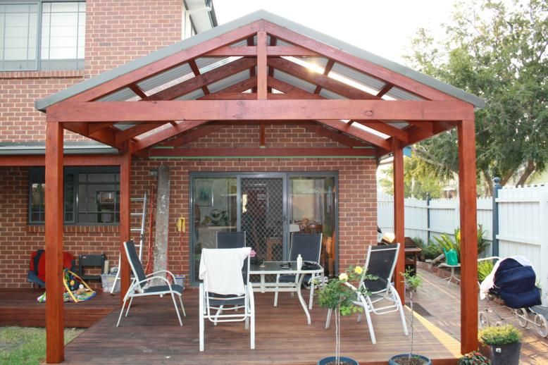 would consider gable roof pergola... would matching the pitch of ... - Free Pergola Designs For Patios