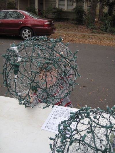 How To Make Christmas Light Balls Outside Christmas Decorations Christmas Diy Christmas Decorations