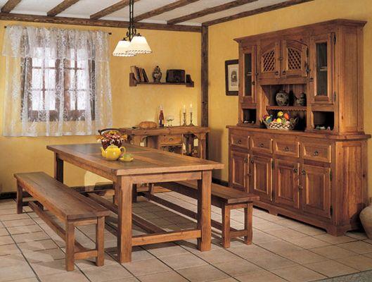 Mesas rusticas de madera buscar con google decoracion - Mesa cocina rustica ...