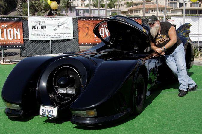 Mike Harrah With His Batmobile At The 2010 Coastline Car Clic D Antoni