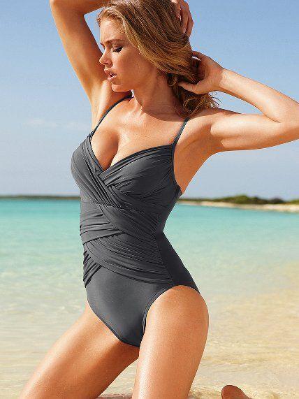 815bd7850747b Firm Control Draped One-piece - Magicsuit® - Victoria s Secret