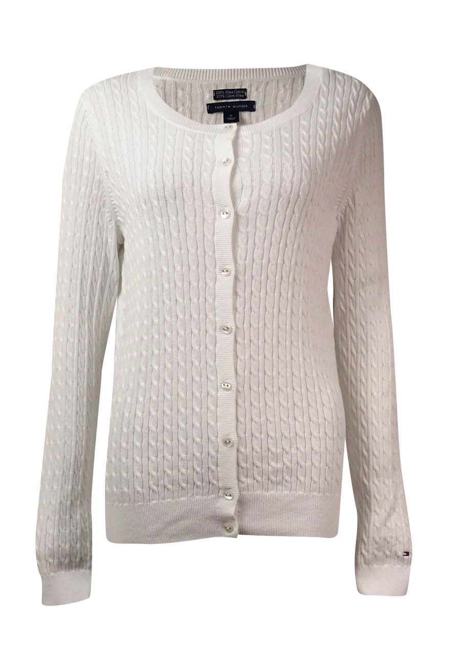 Tommy Hilfiger Women's Long Sleeves Cable-Knit Cardigan | Products ...