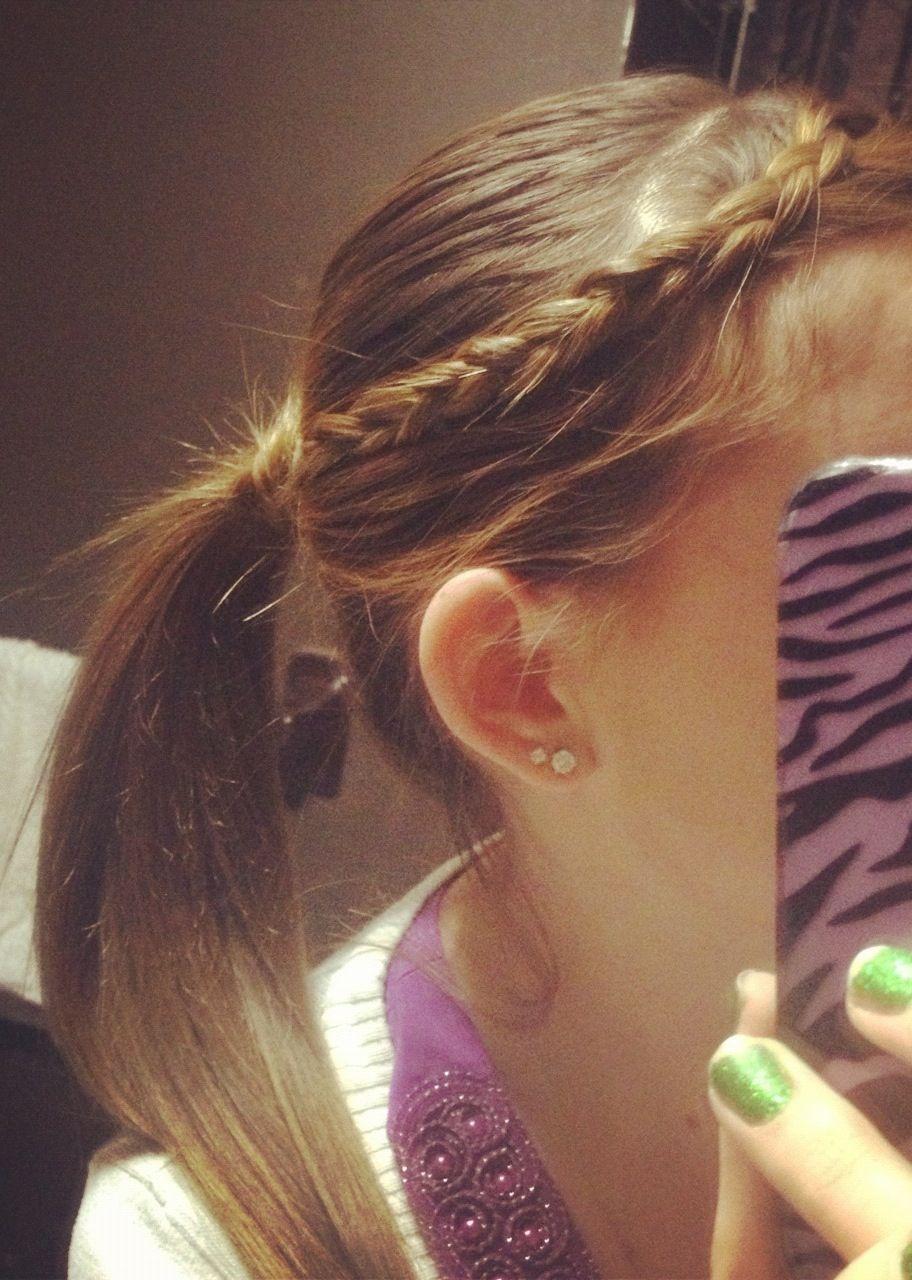 Easy pretty braided pony cute hairstyles pinterest pony