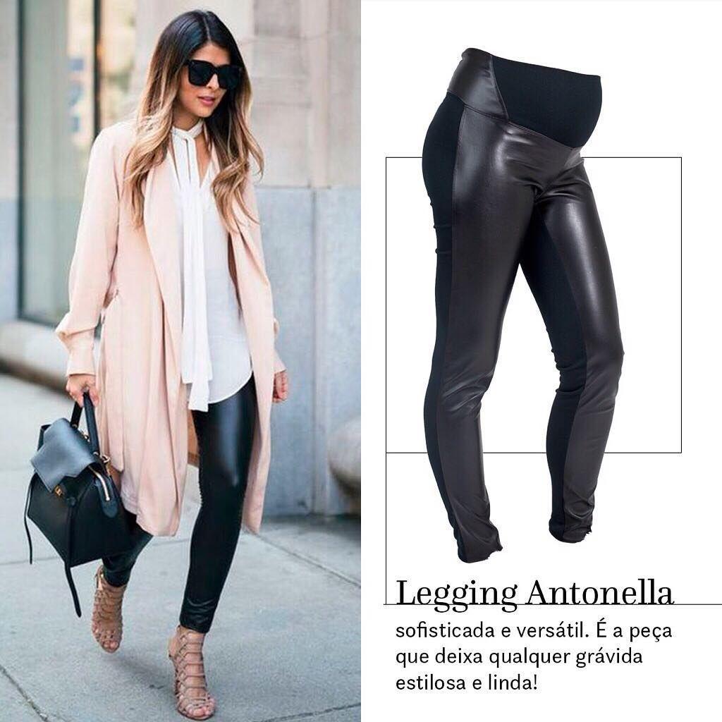 77153143981f9 Inspiração pra aquele look de gestante simples e sofisticado. Legging  gestante Antonella é a nossa calça mais glamurosa, e ainda assim super  versátil é ...