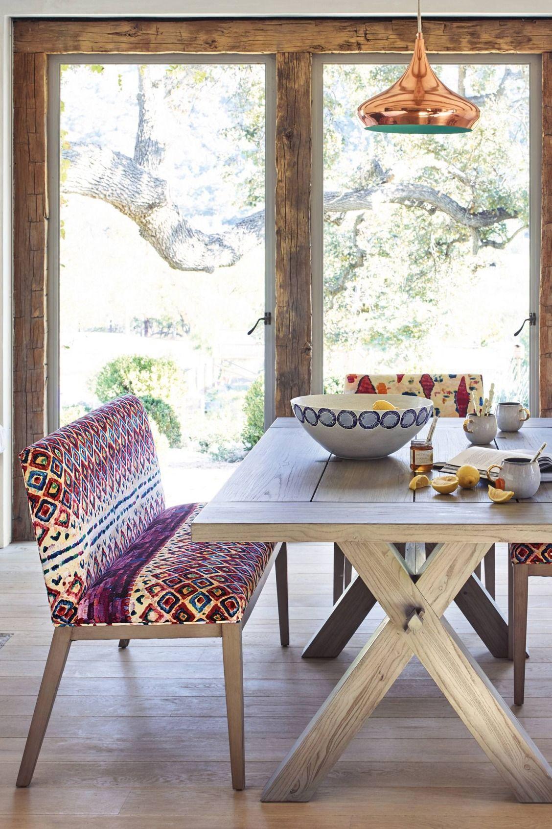 Stupendous Medina Diamond Printed Emrys Bench Living Room Design Ibusinesslaw Wood Chair Design Ideas Ibusinesslaworg