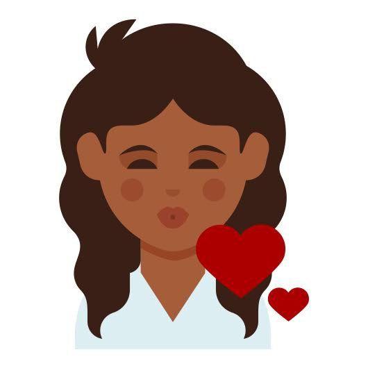 Dove Creates Curly Hair Emoji For Every Skin Tone Dark Skin Curly Hair Styles Dark Skin Tone