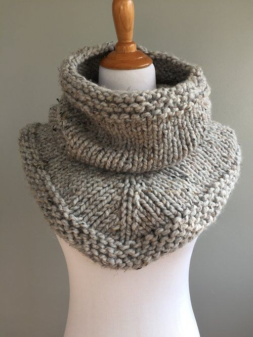 Knit Stockinette Bandana Cowl Pattern Pinterest Bandanas