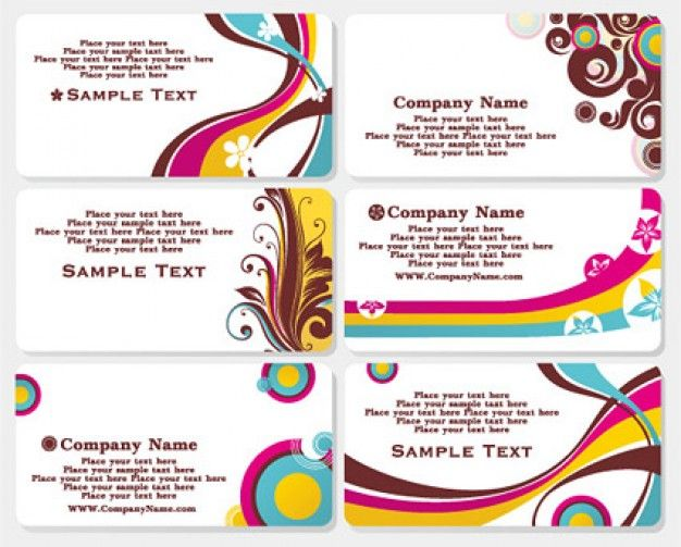 Fashion Business Card Template Vector Material  Business Cards