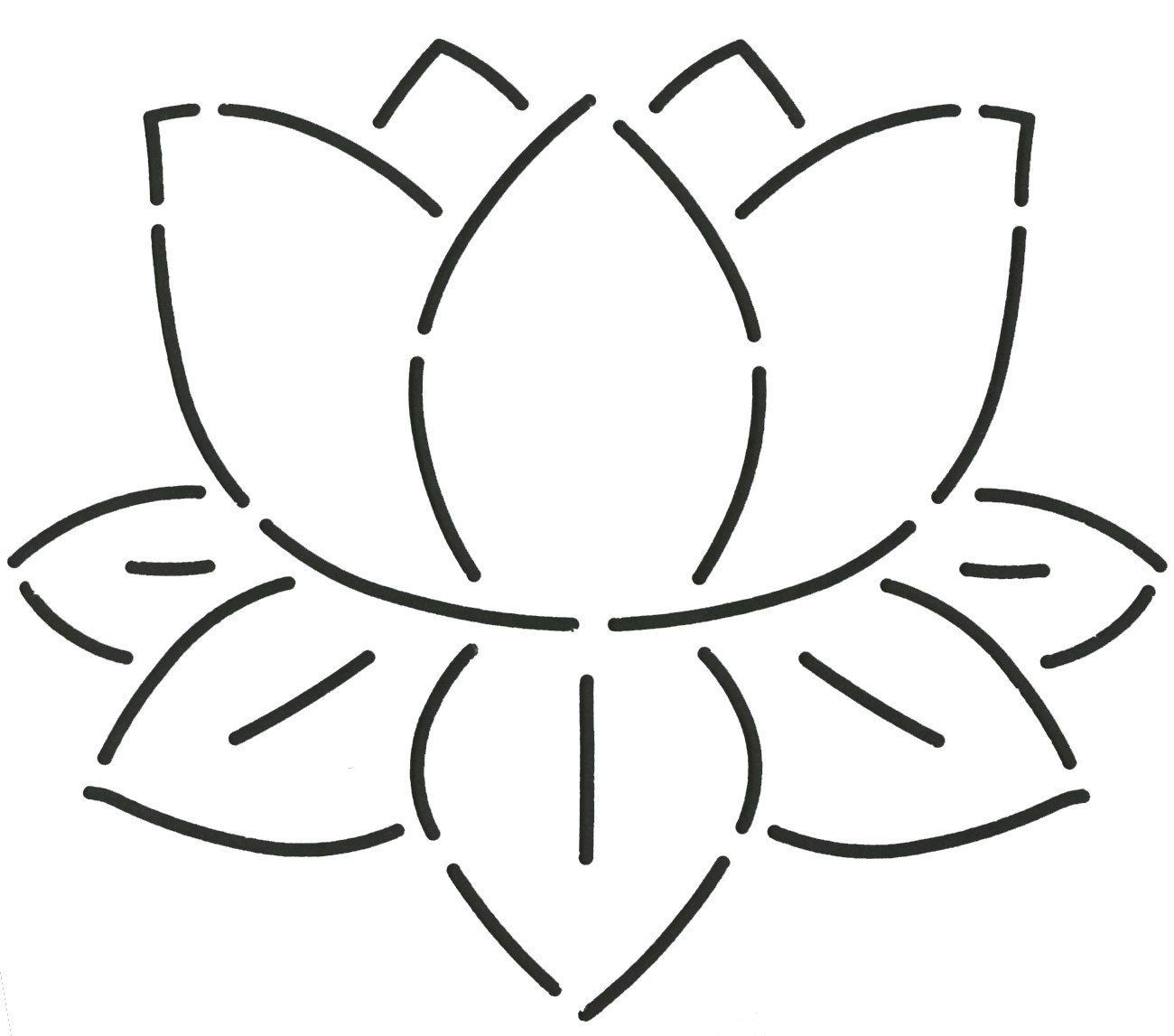 Water Lily Stencil Black And White: Amazon.com: Lily Pad Quilting Stencil