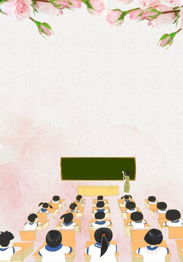 Hoa Nha Thầy Ngay Hồng Hồng Teachers Day Teachers Day Drawing Powerpoint Background Design