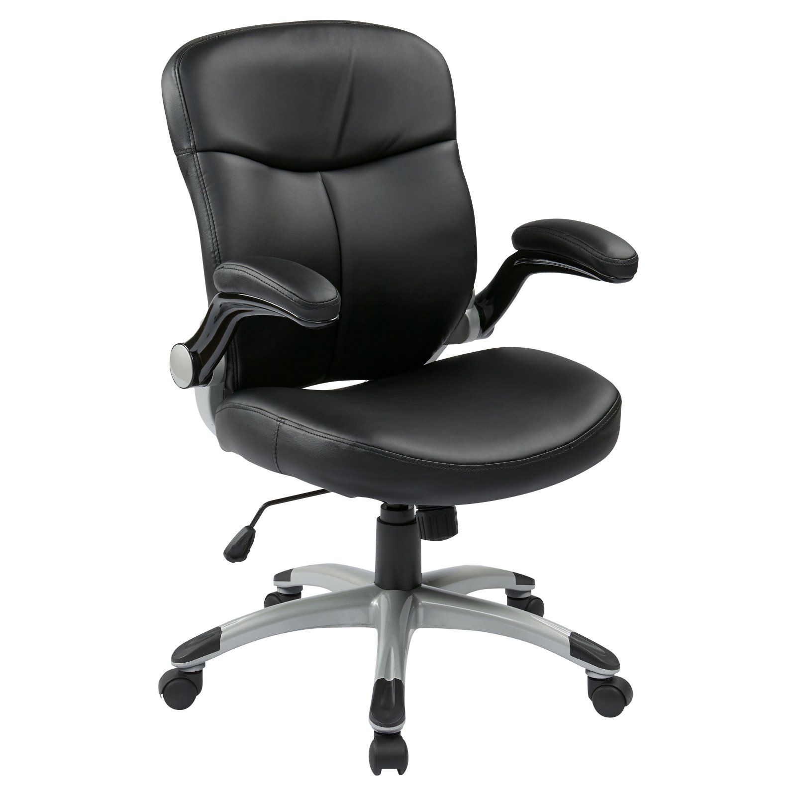 Work Smart MidBack Bonded Leather Executive Office Chair