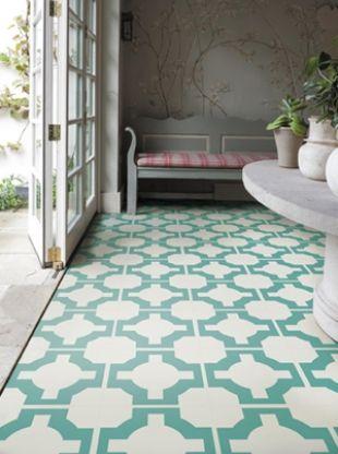 Parquet Vinyl Floor Tile Turquoise From The Neisha Crosland Portfolio Neishacrosland