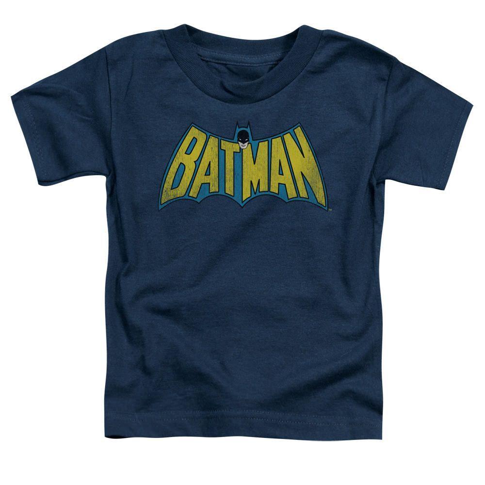 Batman Classic Logo Navy Toddler T Shirt Batman Logo