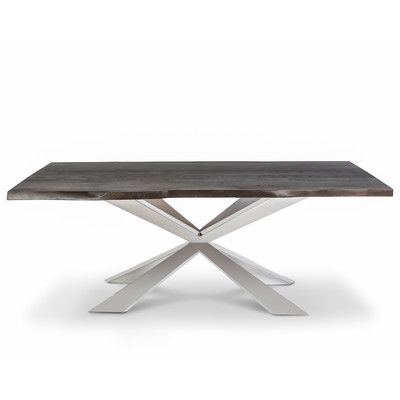 Lievo Hunter X Dining Table Finish Dark Metal Dining Table