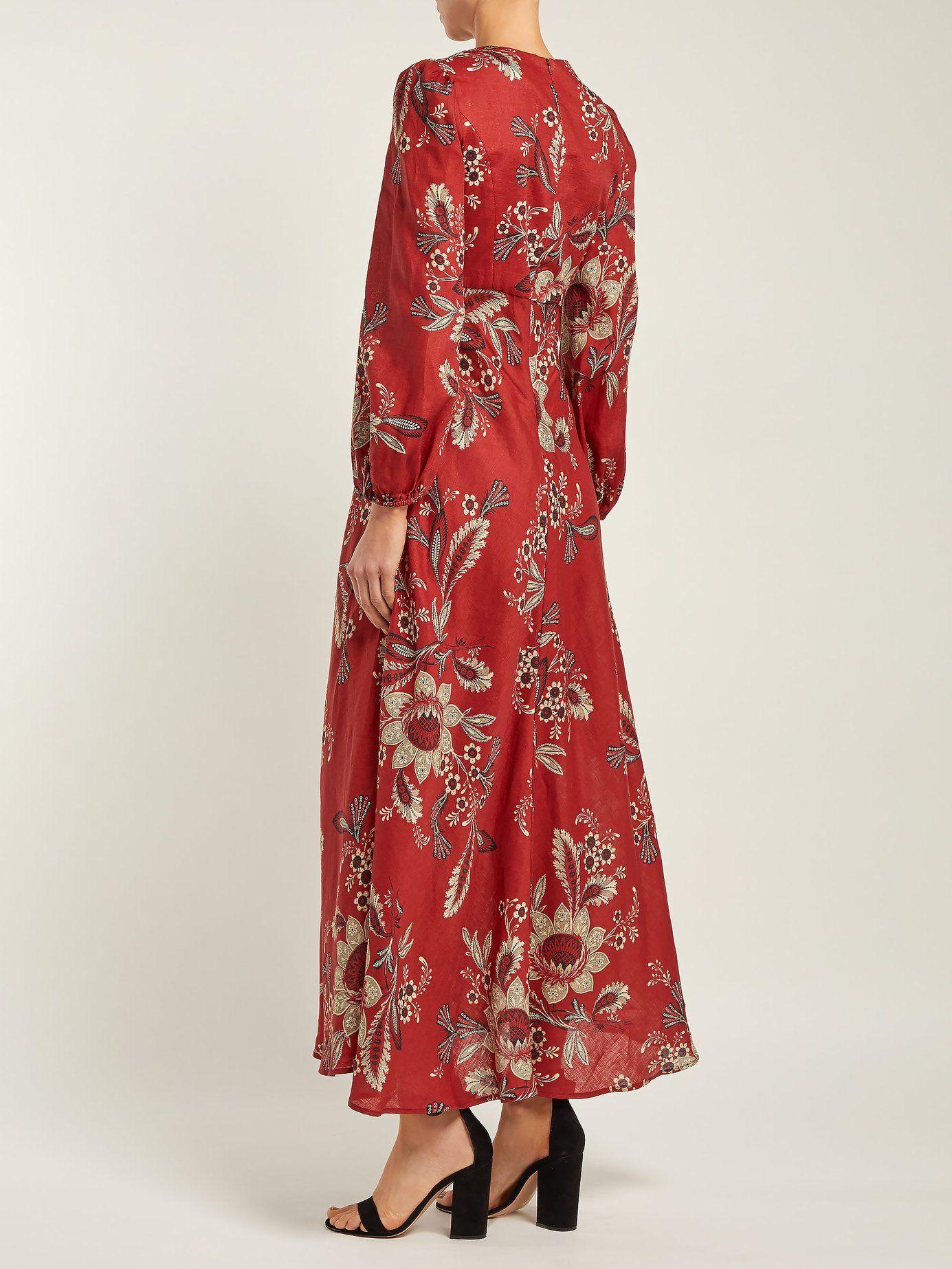 926d301b51e Juno Rosa Batik-print linen dress