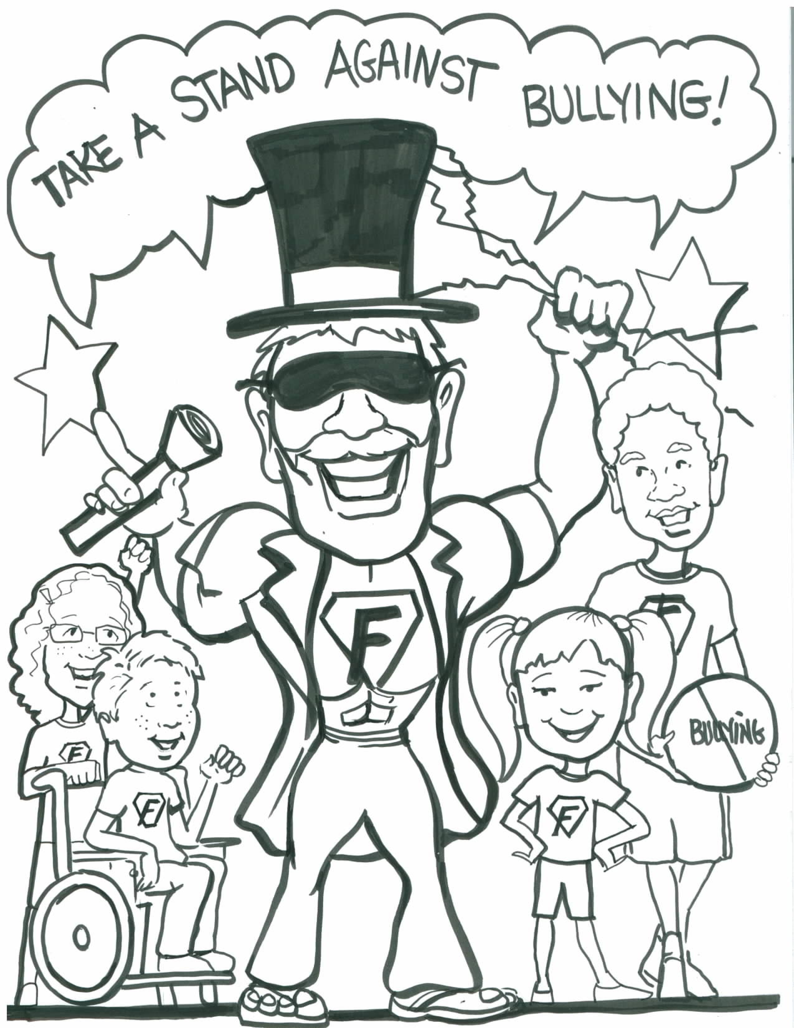 Bullying Coloring Pages Free Printable Worksheets For Kids