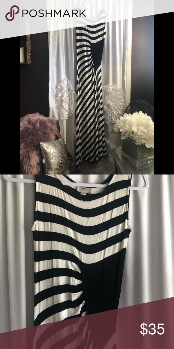 NWOT Striped maxi dress, never worn