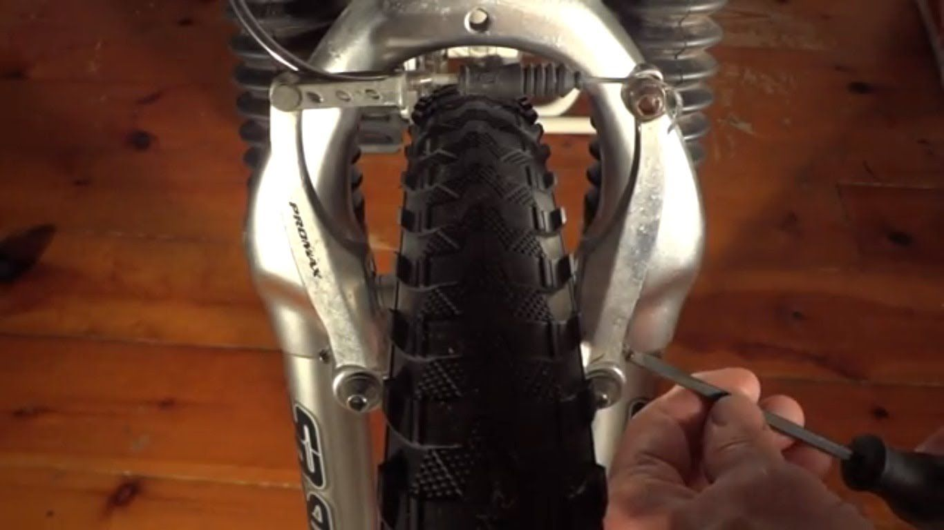 How To Fix Hybrid Mountain Bike V Brakes Rubbing On One Side