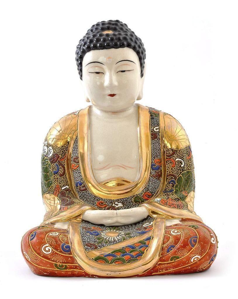Japonés Kinkozan Moriage Satsuma Barro Buda Daibutsu Figura ...