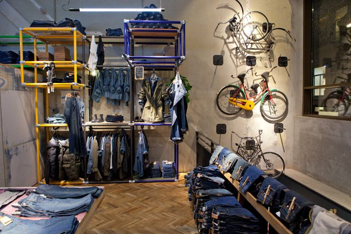 levis store by como park studio amsterdam this makes you want to wear jeans fabulous display. Black Bedroom Furniture Sets. Home Design Ideas