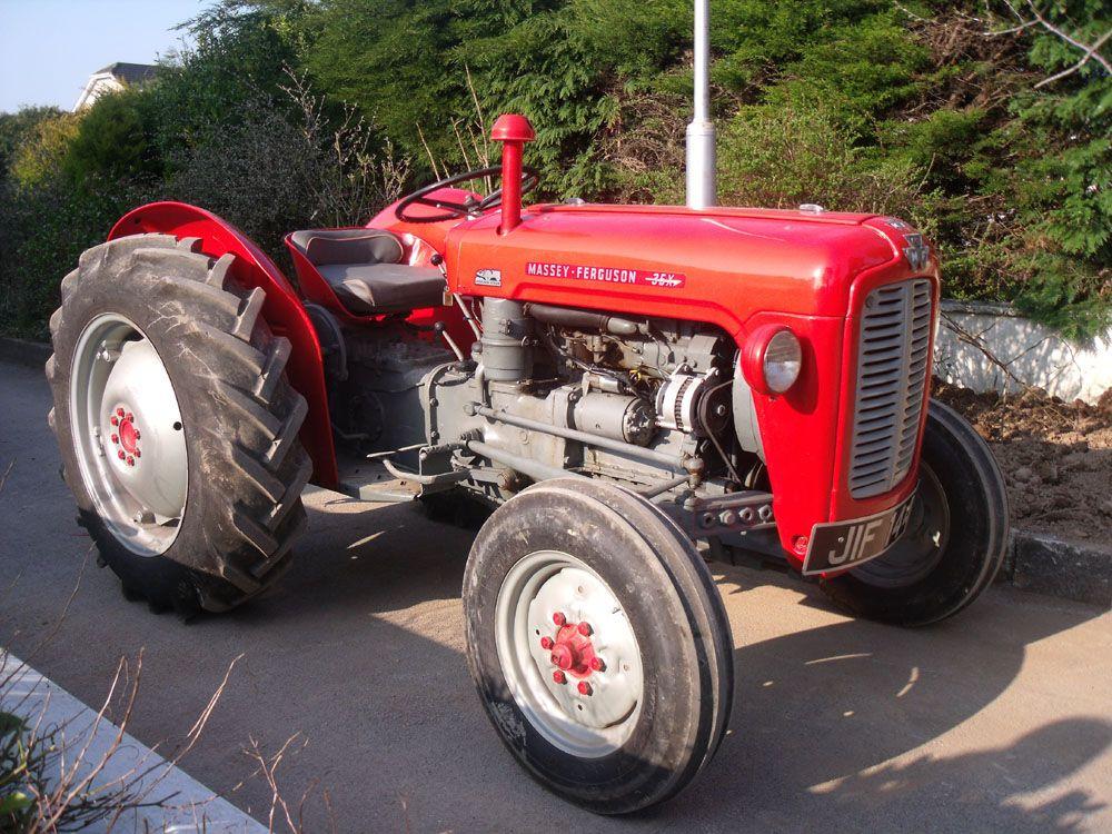 A3 Poster Massey Ferguson 35x Tractor