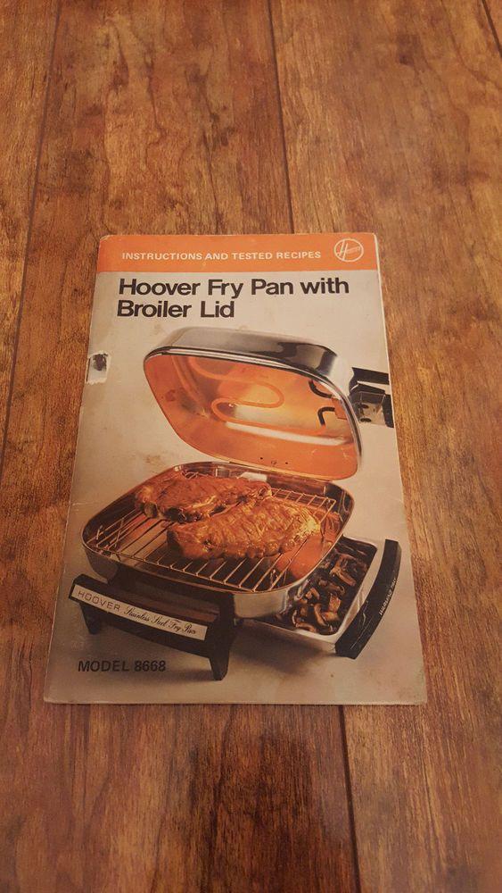 Manual Vtg Hoover Stainless Steel Electric Skillet Fry Pan Broiler