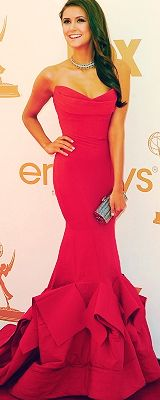 Nina Dobrev In Donna Karan Love The Top And Mermaid Tail