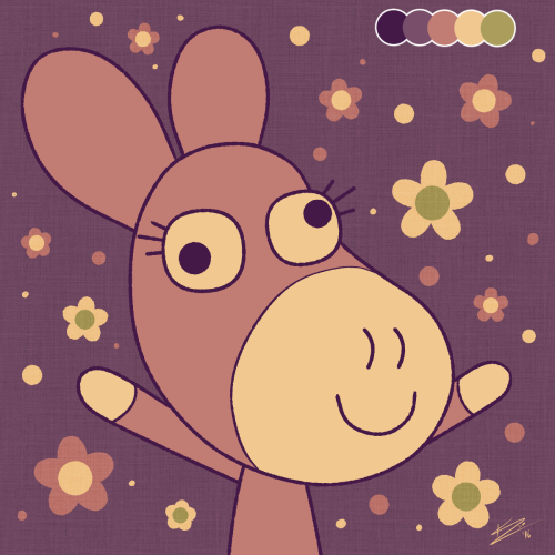 Daisy in palette #21, which no one asked for. Aaand that's it for my color…