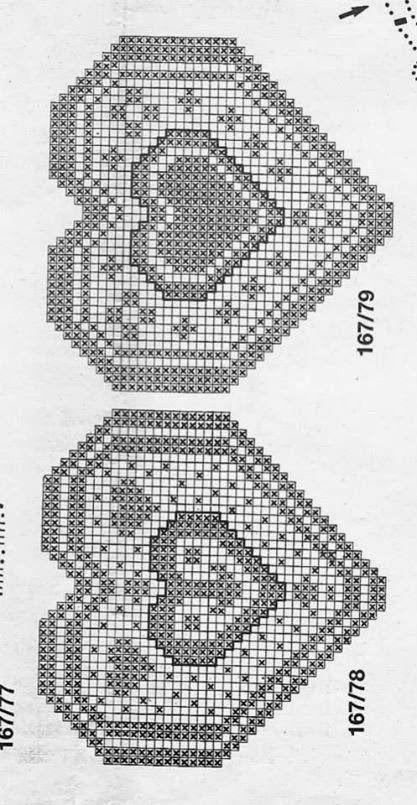 Schemi gratis da realizzare a filet punto croce maglia for Lavori a filet schemi gratis