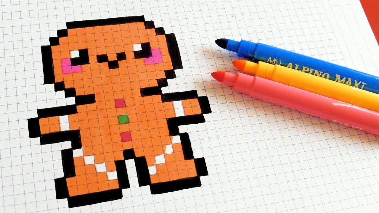 Handmade Pixel Art How To Draw Kawaii Gingerbread Man