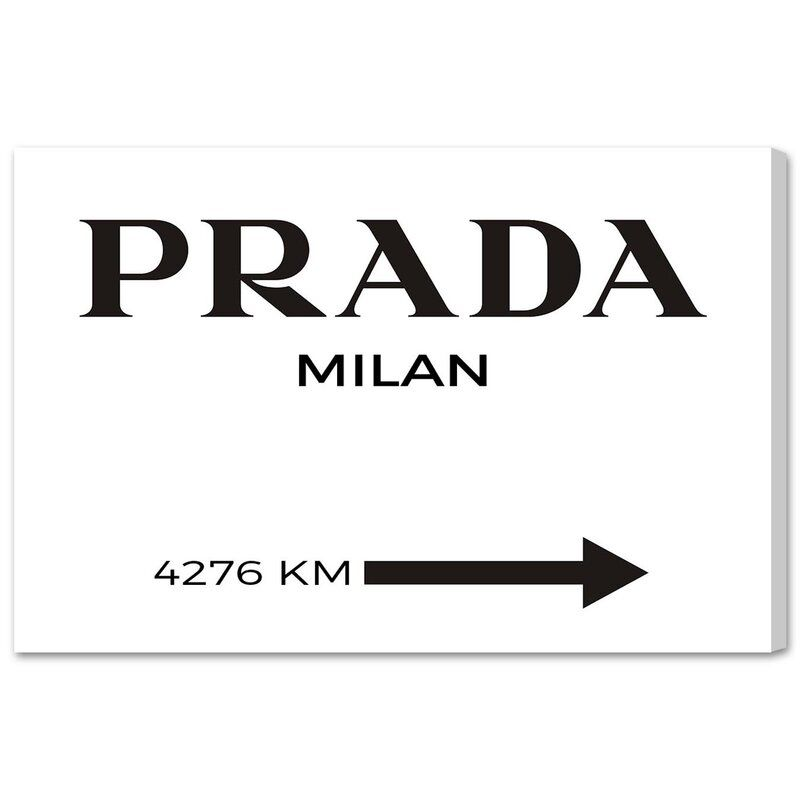Fashion And Glam Milan Minimalist Road Signs Floater Frame Print On Canvas In 2020 Glam Wall Art Wall Art Canvas Prints Fashion Wall Decor