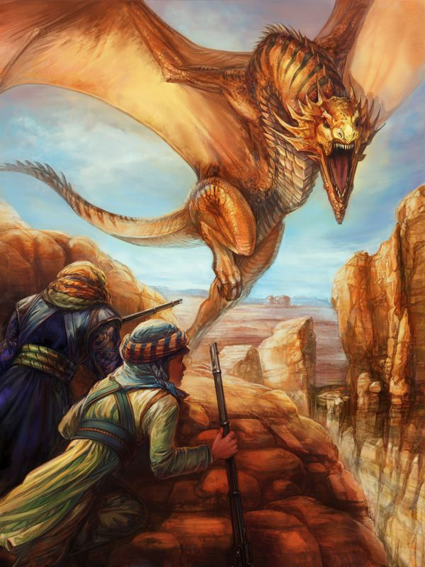 Desert Dragon By Thegryph Looks Like A Fire Wyvern From Ark Scorched Earth Fantasy Dragon Mythical Creatures Fantasy Dragon Pictures
