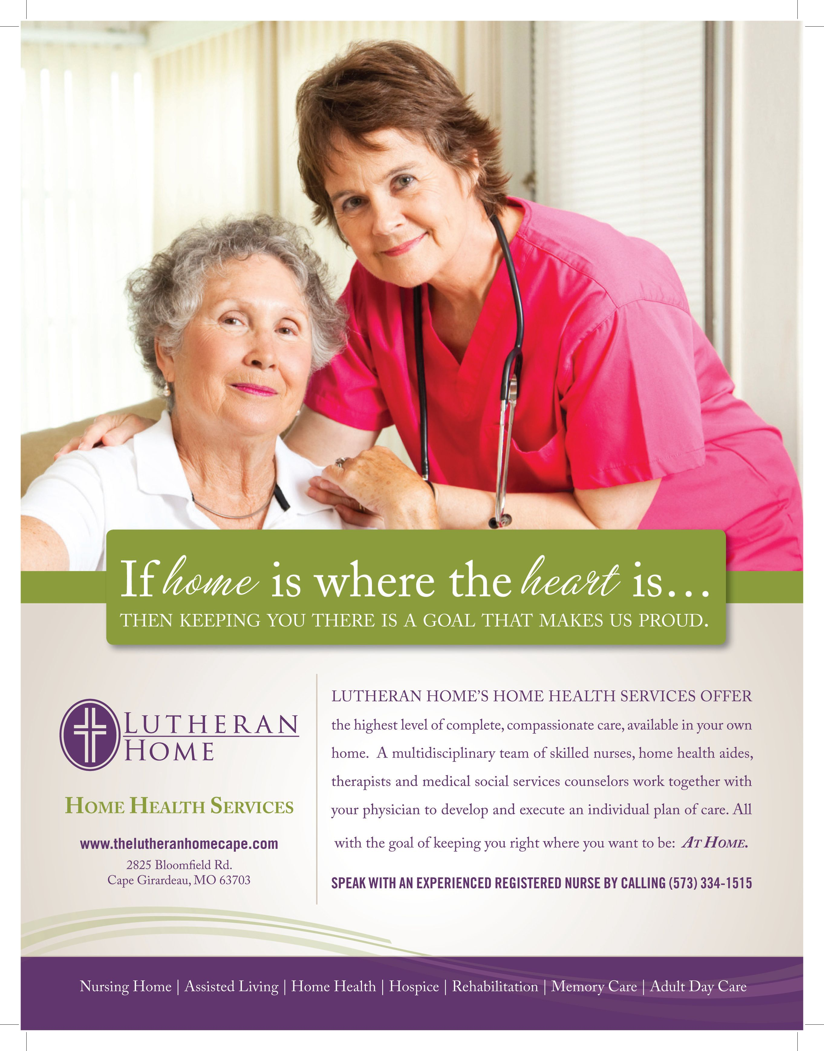 Print Ad For Home Health Care By Bold Marketing Home Health Aide Health Marketing Home Health Services