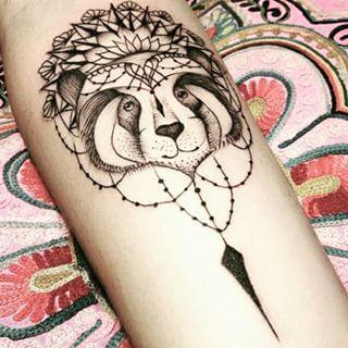 Gente! Olha essa tatuagem de #panda!  Feita por @brunandradetatto #Incrivel #fantastica #panda #mandala2 #sweet #fofa #ornamentos #blacktattoo #tattoo #tattoo2me #tatuagem #ink #inked #arte #art #drawing #draw #tatouage #Tatowierung #tatuaje #artenapele #tinta #tatto2me #t2m #euquero #dibujo #dessin #tattoobrasil #brasil