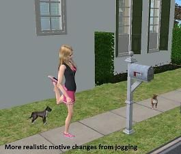 Motive Change for Jogging by gummilutt -- ModTheSims