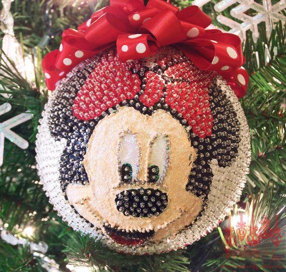 Esfera minni mouse mickey y minnie mouse navid for Adornos navidenos mickey mouse