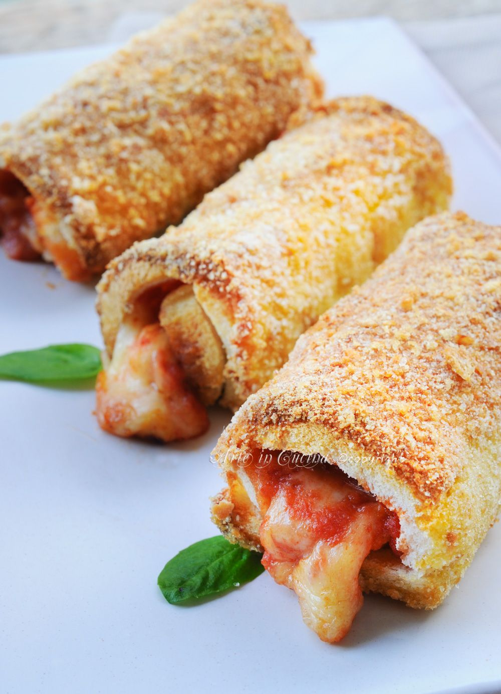 Cannoli di pancarre al forno con mozzarella e pomodoro for Ricette mozzarella in carrozza al forno